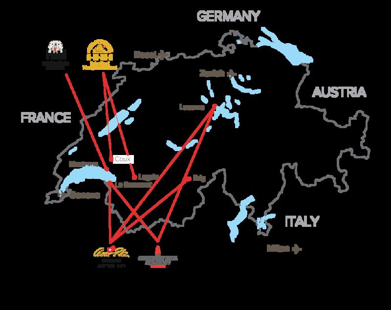 switzerland campus map swisseducationgroup